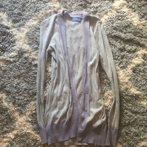 Vera Wang Purple and Gray Ombré Cardigan
